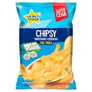 Star Śmietana i cebulka Chipsy ziemniaczane 250 g