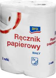 Aro Ręcznik papierowy 2-warstwowy 8 x 2 rolki