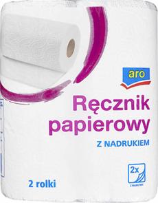 ARO Ręcznik papierowy z nadrukiem 2-warstwowy 8 x 2 rolki