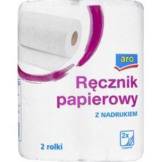 Aro Ręcznik papierowy z nadrukiem 2-warstwowy 2 rolki 8 sztuk