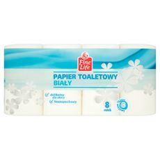 Fine Life Papier toaletowy biały 3-warstwowy 8 rolek