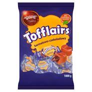 Wawel Tofflairs karmelowo-czekoladowy Pomadki mleczne niekrystaliczne 1000 g