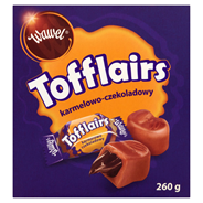 Wawel Tofflairs karmelowo-czekoladowy Pomadki mleczne niekrystaliczne 260 g