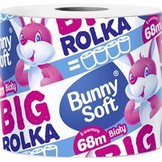 Bunny Soft Big Rolka Papier toaletowy biały 68 m 2-warstwy 6 rolek