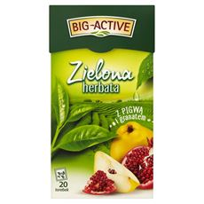 Big-Active Zielona herbata z pigwą i granatem 34 g (20 torebek)