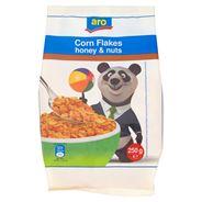 Aro Płatki kukurydziane w polewie miodowej i z orzeszkami ziemnymi 250 g