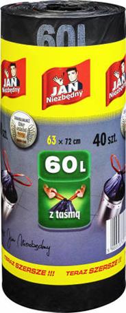 Jan Niezbędny Worki LD taśma 60l, opakowanie: 40 szt