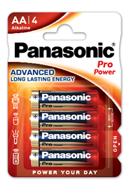 Baterie Alkaliczne Panasonic Pro Power. Typ AA (LR6)