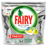 Fairy Platinum All in One Lemon Kapsułki do zmywarki 18 sztuk