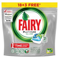 Fairy Platinum All In One Regular Kapsułki do zmywarki 18+3 sztuki
