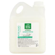 Biały Jeleń Hipoalergiczne mydło w płynie nawilżające kozie mleko 2 l