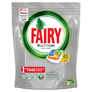 Fairy Platinum All In One Orange Kapsułki do zmywarki 45 sztuk