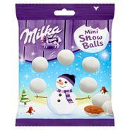 Milka Mini Snow Balls Czekolada mleczna z mleka alpejskiego 100 g