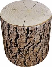 Puf Dąb z korą Okrągły wodoodporny