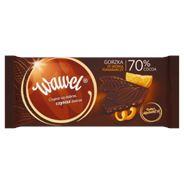 Wawel Czekolada gorzka ze skórką pomarańczy 70% Cocoa 100 g