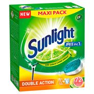 Sunlight All in 1 Citrus Fresh Tabletki do zmywarki 1260 g (72 sztuki)