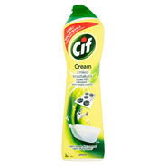 Cif Cream Lemon z mikrokryształkami Mleczko do czyszczenia powierzchni 540 g 4 sztuki
