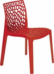 Grand Soleil Krzesło ażurowe Gruvyer czerwone