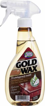 Gold Drop Gold Wax Płyn do pielęgnacji mebli w sprayu 400 ml