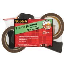 Scotch Taśma pakowa akrylowa 66 m x 48 mm 2 sztuki + podajnik