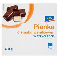 Aro Pianka o smaku waniliowym w czekoladzie 400 g