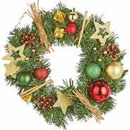 Zdobiony wieniec świąteczny, 30 cm