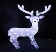 Tarrington House renifer świecący wys. 75 cm, zimna barwa światła