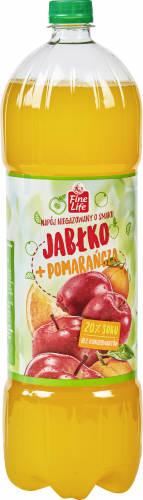 Fine Life Napój niegazowany o smaku jabłko + pomarańcza 1,75 l