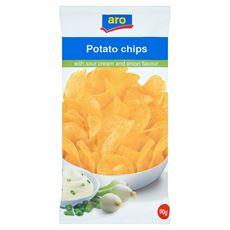 Aro Chipsy śmietanowo-cebulowe 90 g