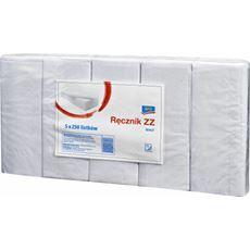 Aro Ręcznik ZZ biały 1-warstwowy 5 x 250 listków