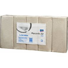 Aro Ręcznik ZZ szary 1-warstwowy 5 x 250 listków