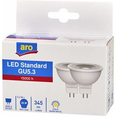 Aro żarówka LED REF.GUS5.3  5.2W 2700K 2 sztuki