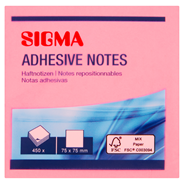 Karteczki samoprzylepne SIGMA 75x75 kolorowe