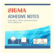 Sigma Karteczki samoprzylepne 7,5 x 7,5 cm sztuki