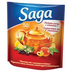 Saga Herbata czarna z witaminą C 85 g (50 torebek)