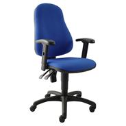 Sigma Betina Krzesło obrotowe niebieskie kratka