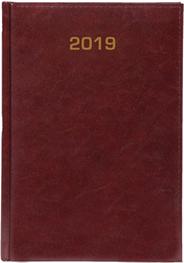 Kalendarz A4 skóropodobny BALADEK TYGODNIOWY bordo