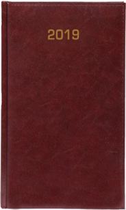 Kalendarz A6 skóropodobny BALADEK TYGODNIOWY bordo