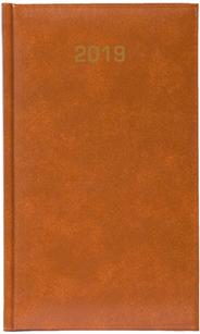 Kalendarz A6 skóropodobny BALADEK TYGODNIOWY, brązowy