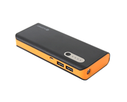 PLATINET POWER BANK 13000mAh + microUSB cable + torch blak/orange