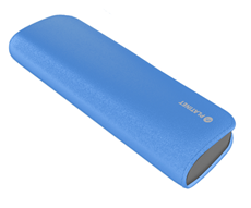 PLATINET POWER BANK LEATHER 7200mAh  BLUE + microUSB cable