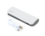 PLATINET POWER BANK LEATHER 7200mAh  WHITE + kabel microUSB