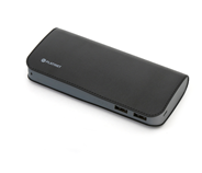 PLATINET POWER BANK LEATHER 11000mAh BLACK + kabel microUSB