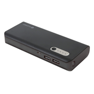 PLATINET POWER BANK LEATHER 15000mAh BLACK + kabel microUSB