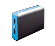 PLATINET POWER BANK 6000mAh + microUSB cable + torch black/blue