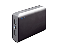 PLATINET POWER BANK 6000mAh + microUSB cable + torch black/grey
