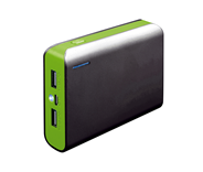 PLATINET POWER BANK 6000mAh + microUSB cable + torch black/green