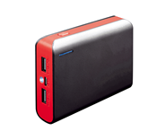 PLATINET POWER BANK 6000mAh + microUSB cable + torch black/red