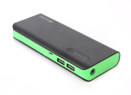 PLATINET POWER BANK 8000mAh + microUSB cable + torch black/green