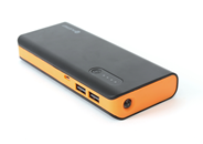 PLATINET POWER BANK 8000mAh + microUSB cable + torch black/orange